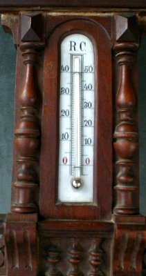 GERMAN Barometer Thermometer ANTIQUE 1900