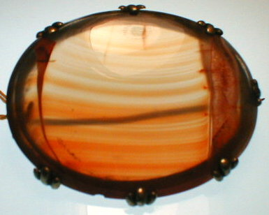MOSS Agate PIN Scotts Brooch ANTIQUE