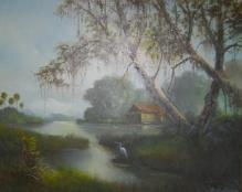 ARLIE GRAY Oil Painting Rural Florida SARASOTA Artist