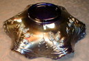 FENTON Orange TREE Bowl BLUE Carnival GLASS