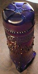 FENTON Hat PIN Holder CARNIVAL Blue ANTIQUE