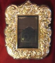 STERLING Silver REPOUSSE Frame, Florence Italy