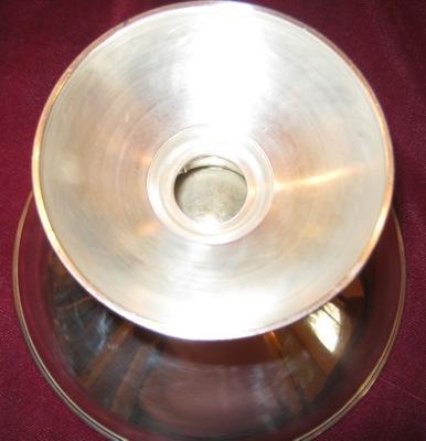 Georg Jensen Style Sterling Silver Pedestal Bowl