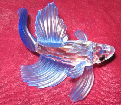 SWAROVSKI Siamese Fighting Fish - BLUE -