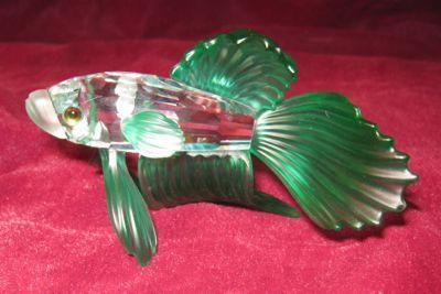 SWAROVSKI Siamese Fighting Fish - GREEN -