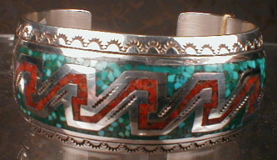 NAVAJO Silver TURQUOISE  Bracelet - VINTAGE -