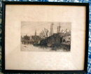 Hodgdon BOSTON Harbor SCENE -Antique-