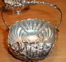 DERBY Silver SHELL Creamer & Sugar - ANTIQUE -