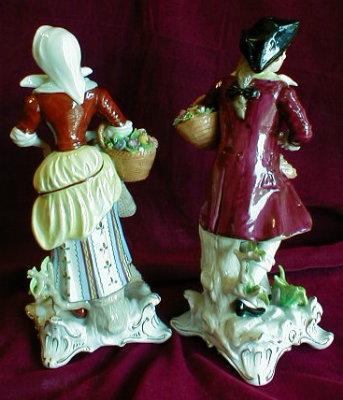 Sitzendorf DRESDEN Figurines - HUNTING Couple -