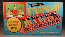 SCOTTIE Toy XYLOPHONE in BOX - Vintage -