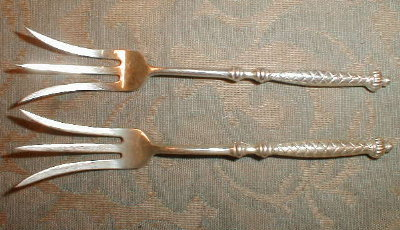 GORHAM Sterling PICKLE Forks (2) - ANTIQUE -