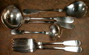 Bailey BANKS Biddle SILVER Serving PIECES (6) -