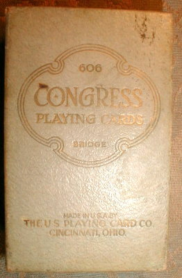 Congress 606 PLAYING Cards SLIPcase The HEARTH