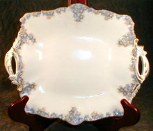 CAULDON Forget-ME-Nots SERVING Plate - ANTIQUE-