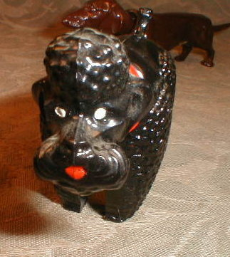 Dog NODDER French POODLE Germany - VINTAGE -