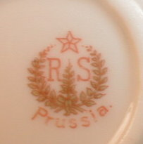 RS Prussia ANEMONES Plate HANDLES - Antique -