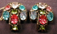 HOLLYCRAFT Rhinestone EARRINGS -Vintage-
