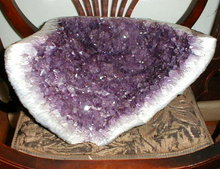 AMETHYST Cathedral GEODE 14.5 inch - ANTIQUE