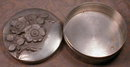 French CHASED Trinket VANITY Box SIGNED Cortes-
