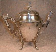 MERIDEN TeaPOT Renaissance REVIVAL - Antique SP