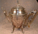 MERIDEN TeaPOT Renaissance REVIVAL - Antique SP