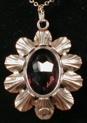 DANEcraft STERLING Flower PENDANT Chain VINTAGE