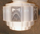 DECO Light FIXTURE Tiered BLACK Design VINTAGE