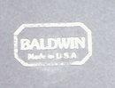 BALDWIN Brass Candlesticks 8.5 in PAIR