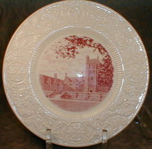 DUKE University WEDGWOOD Plate CROWELL - 1937