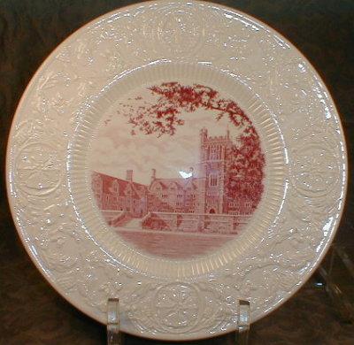 DUKE University WEDGWOOD Plate CROWELL - 1937
