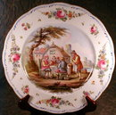FRENCH Faience CHARGER Signed DuCroc -ANTIQUE-