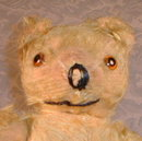 MOHAIR Teddy BEAR Jointed YELLOW - ANTIQUE