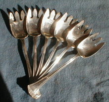 Wallace AMERICAN Sterling ICE CREAM Forks -6-