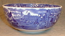 WEDGWOOD Ferrara BOWL Blue Transferware ANTIQUE