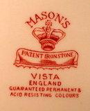 MASONS Vista PLATTER Pink TRANSFERware VINTAGE