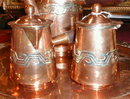 Artesanias MEXICAN Copper COFFEE Set -VINTAGE -
