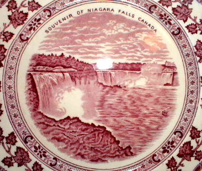 Masons NIAGARA FALLS Souvenir Plate -IRONSTONE-