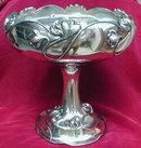 DERBY Pedestal COMPOTE Art NOUVEAU Lotus DESIGN