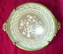 LACE Vanity TRAY Round 2 HANDLES - ANTIQUE -