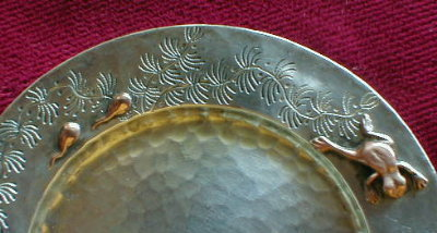 TIFFANY Aesthetic STERLING Dish FROGS  TadPOLES