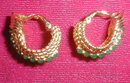 BOUCHER Earrings GREEN Stones - VINTAGE -