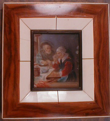 MINIATURE Flemish PAINTING - Hand PAINTED -