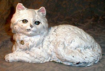 HUBLEY Persian CAT Doorstop #385 Kitty ANTIQUE