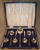 SHEFFIELD Trifle SPOONS & Server S.P. BOXED Set