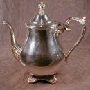 ROGERS Silver TEAPOT - Victorian Rose -