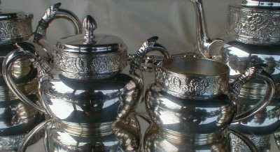 GORHAM Tea SET Silver PLATE 5 pieces -ANTIQUE -