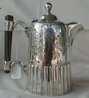Antique SILVER Pot WOOD Handle ENGLISH