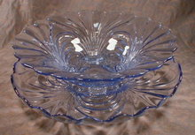 CAPRICE Bowl+Plate Moonlight BLUE -LARGE-
