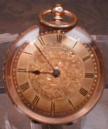 GUIVRE Excelsior POCKET Watch 14K Gold ANTIQUE-