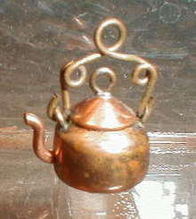 Copper PENNY Kettle CHARM 1 Cent Piece ANTIQUE-